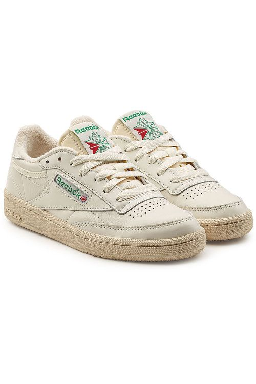 REEBOK Club C 85 Vintage Leather Sneakers.  reebok  shoes    fa2eb0d52