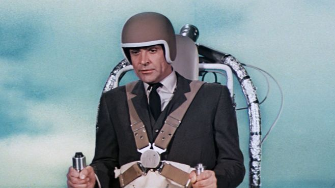 Sean Connery James Bond #Jetpack   Sean connery james bond, James bond,  James bond movies