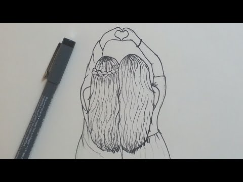 3337 How To Draw Best Friends Easy Step By Step Youtube