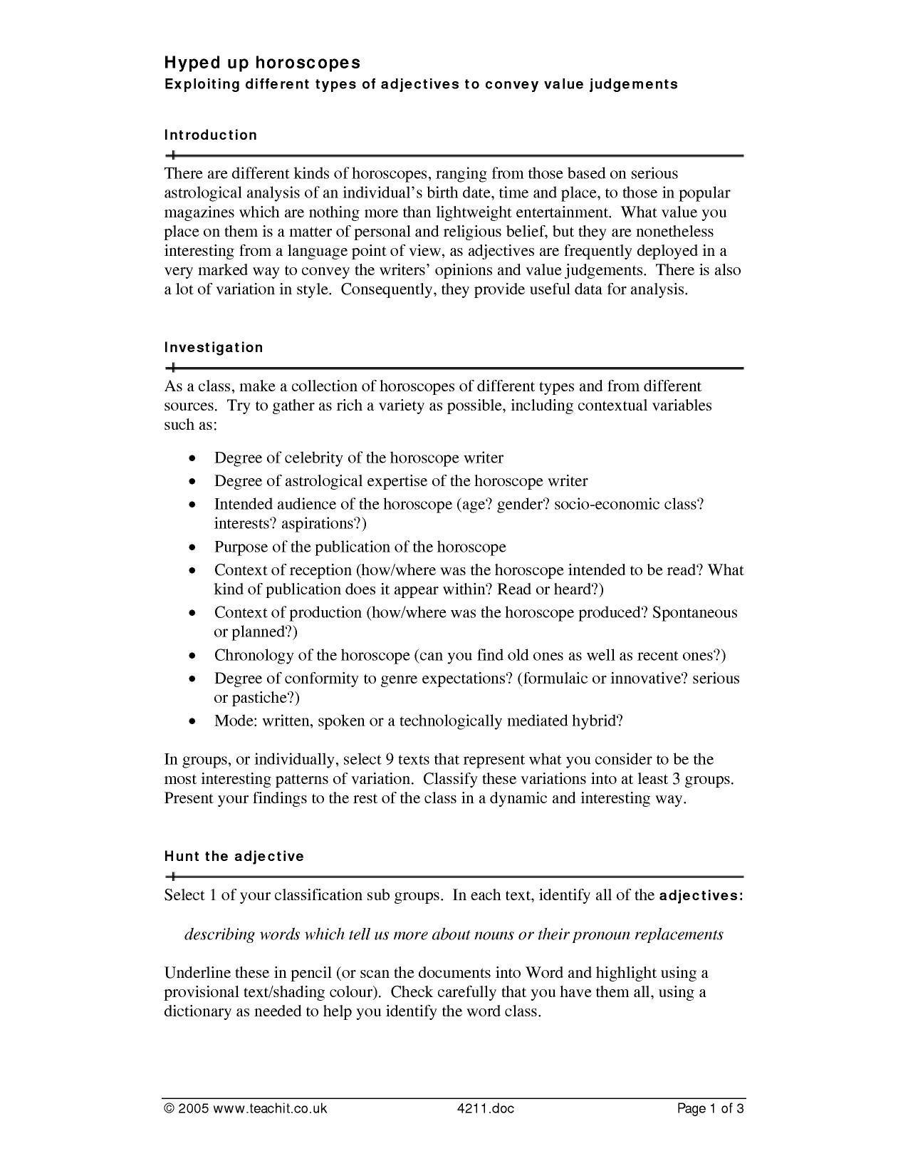 8 Accomplished Second Grade Pronoun Worksheets Di
