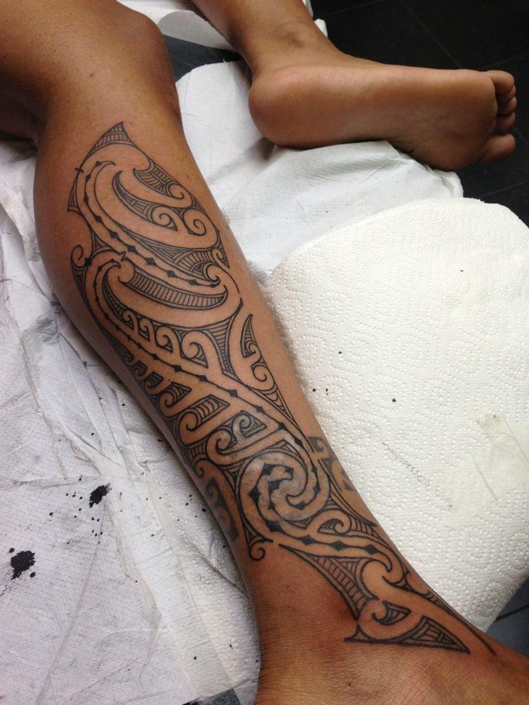 4299a157d Maori Kirituhi style leg tattoo , disguising laser scarring   maori ...