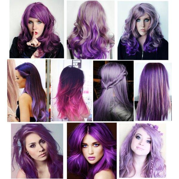 """Purple Hair :) like mine"" by tayloluvsyew on Polyvore"