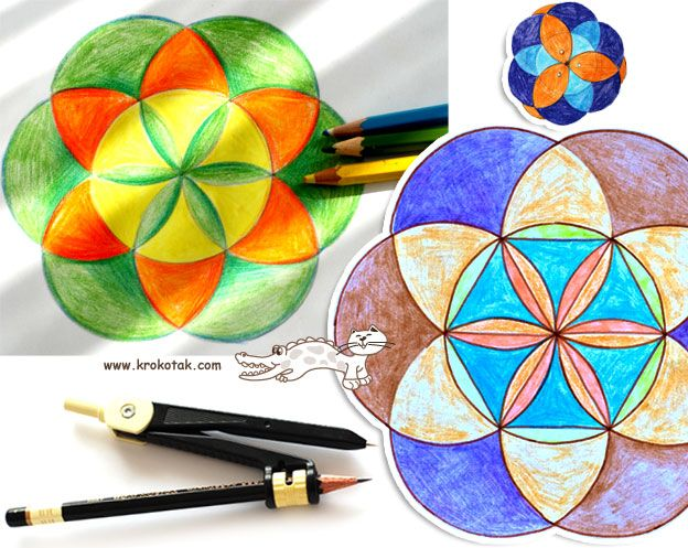 Art Math And Calm Activity Practice Using The Compass Compass