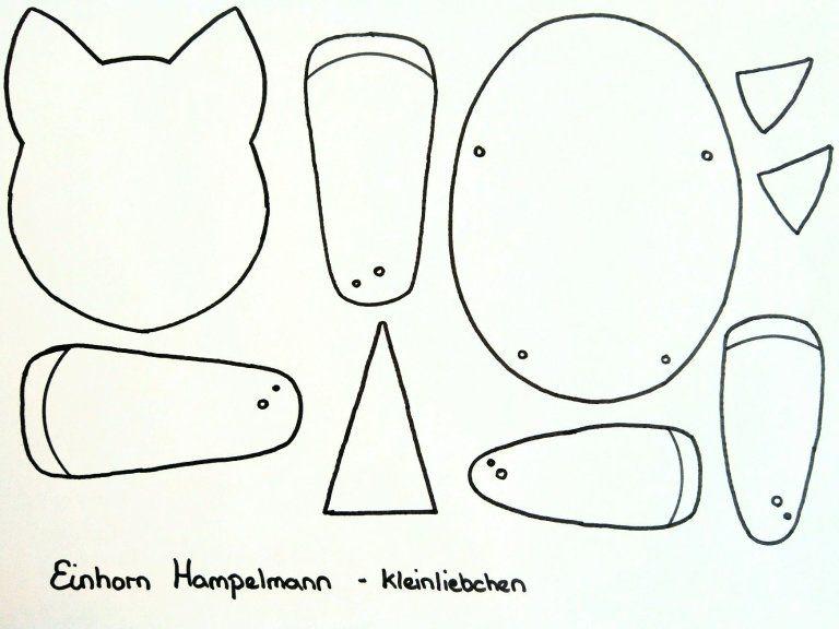 Einhorn Hampelmann Selber Basteln Mit Diy Schritt Fur Schritt Anleitung Und Freebie Hampelmann Basteln Schablonen Zum Ausdrucken Selber Basteln
