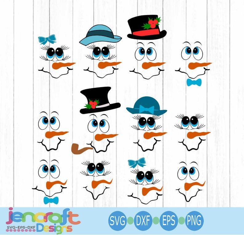 31+ Cute snowman face clipart information