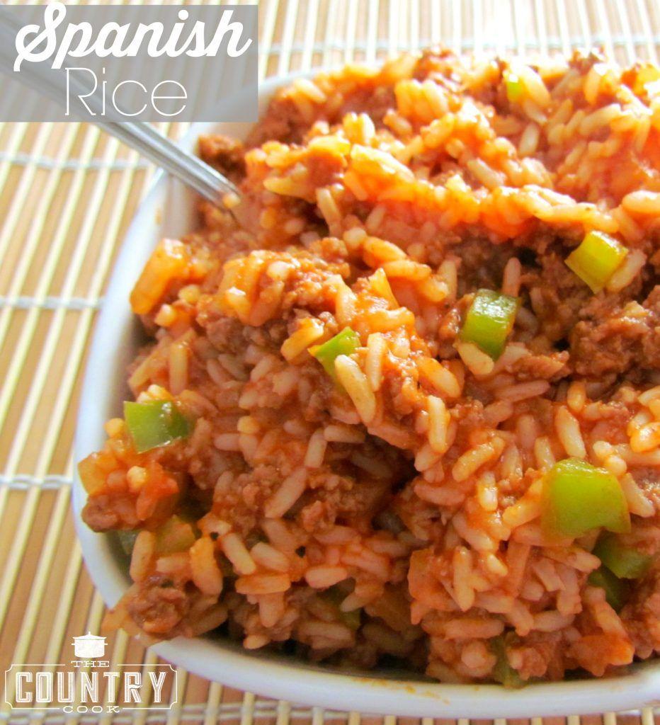 Momma S Spanish Rice Recipe Video The Country Cook Recipe Country Cooking Spanish Rice Spanish Rice Recipe