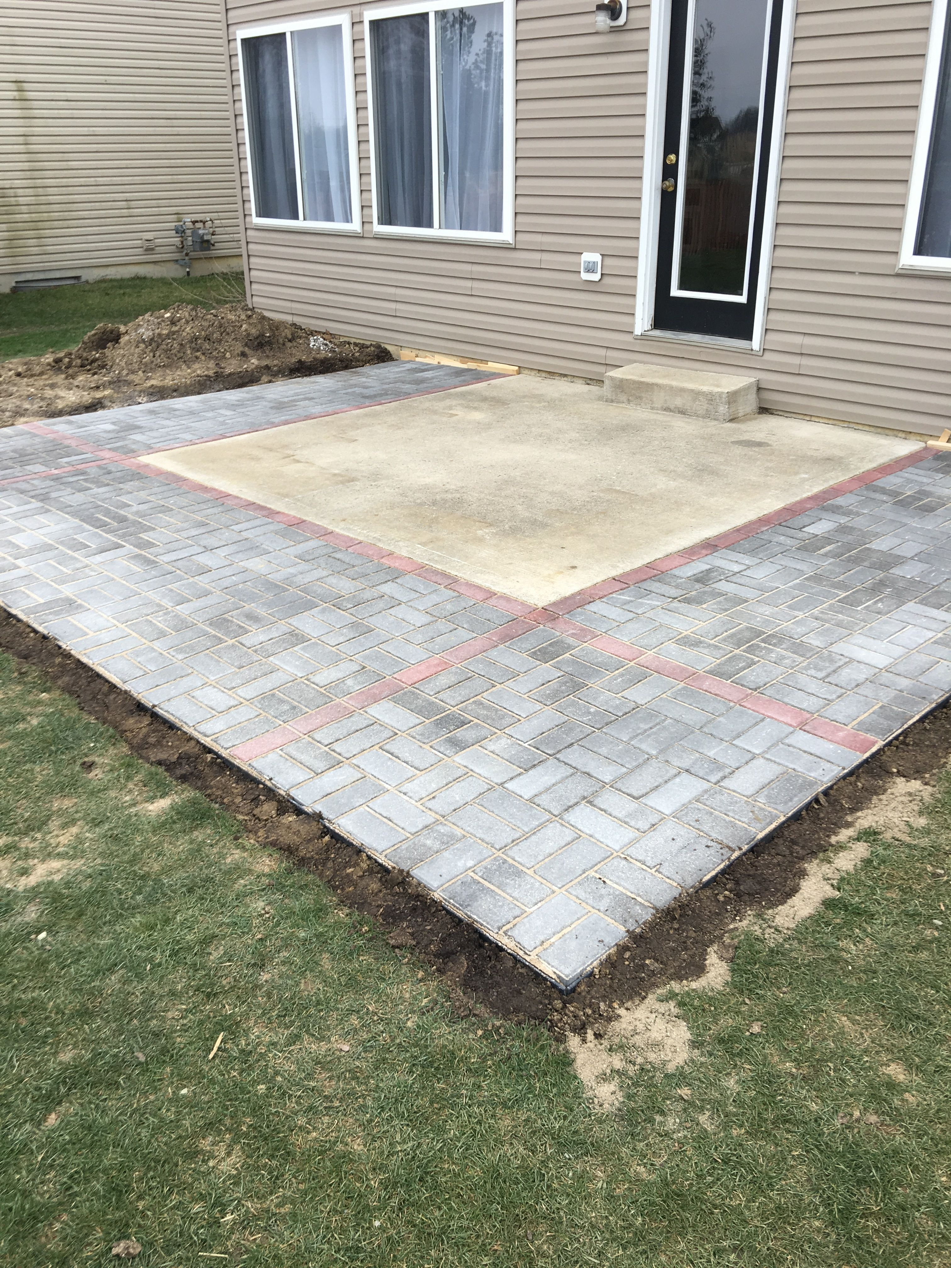 Cool way to extend a concrete slab patio with images