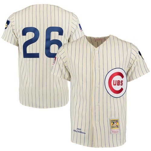 premium selection 0dca9 ecbe6 Billy Williams 1969 Chicago Cubs Mitchell & Ness Authentic ...