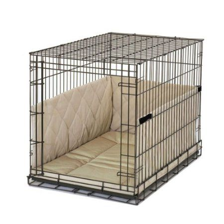 Pet Dreams Classic Cratewear Set Khaki Fits 30 Inch Crates 3 Piece 55 For When He Is Finished The Pupdo Large Dog Crate Cover Dog Crate Cover Large Dog Crate
