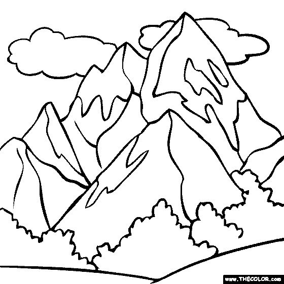 Mountain Stream Coloring Page Jpg 560 750 Abstract Coloring