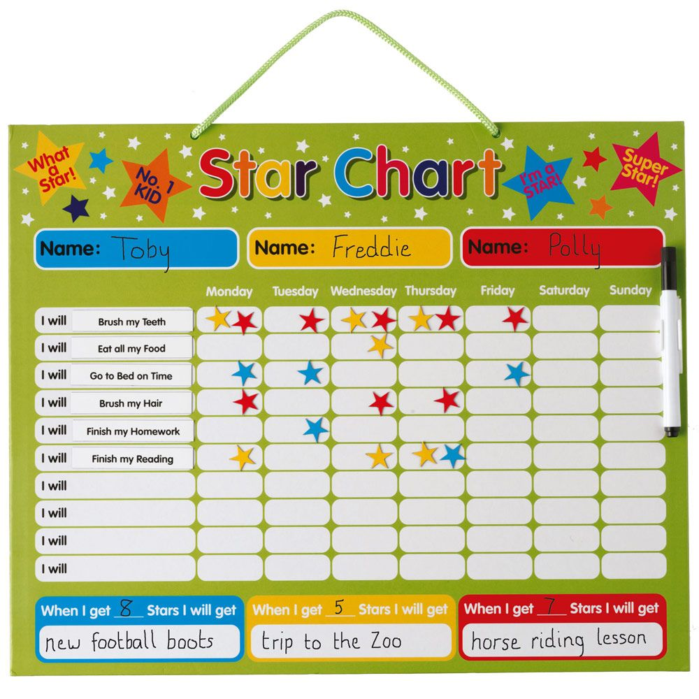 Calendar Chart For Kids : Magnetic reward chart calendars charts home