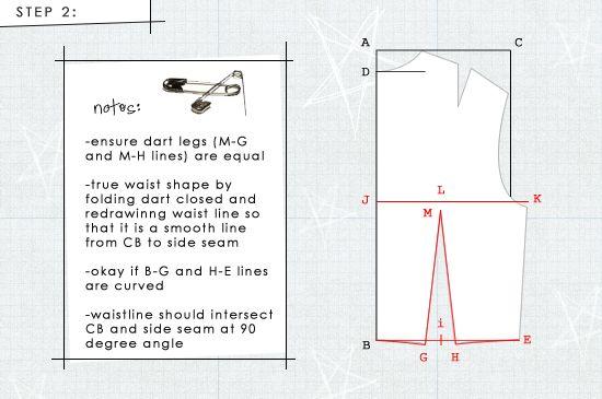 sloper22 How To Draft A Back Bodice Sloper: Update