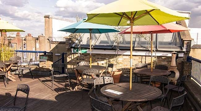 Alfie 39 s rooftop terrace and kitchen for after a spot of for 211 roof terrace cafe