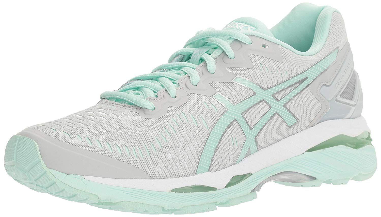 Asics Women S Gel Kayano 23 Running Shoe Glacier Gray Bay White