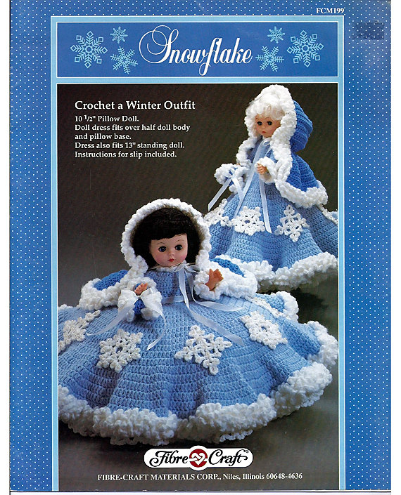 Snowflake Pillow Doll Music Box Doll Or Bed Doll Crochet Pattern