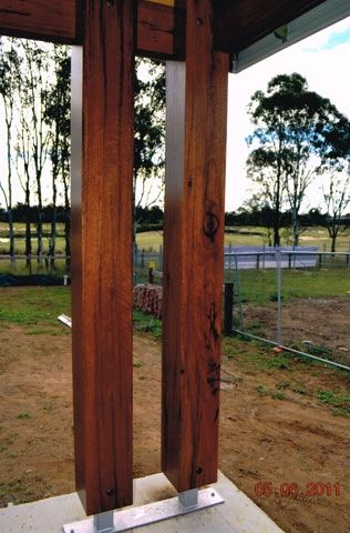 solid timber posts - Google Search | Timber posts, Wood post