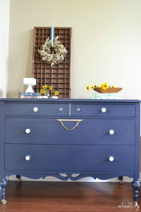 """Coastal Blue Dresser with """"Sweet"""" Accents - Refresh Living"""