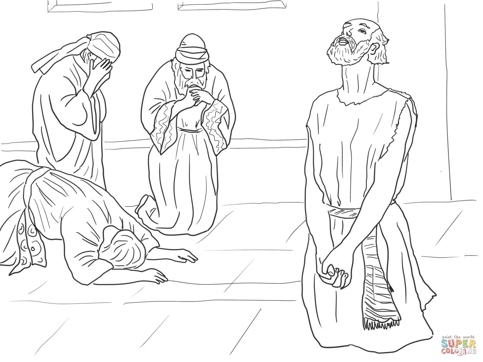 Job Story Coloring Pages Free Coloring Pages Sunday School