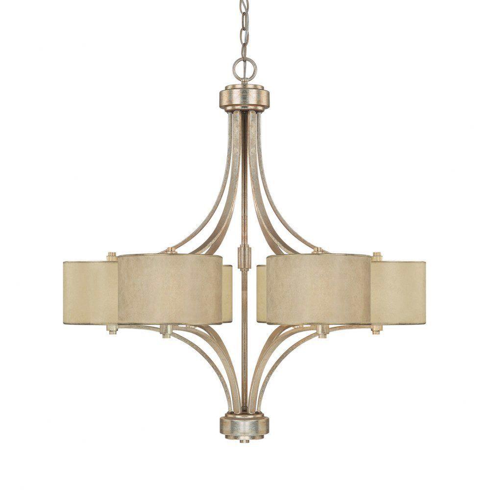 Features: Chandelier Type: -Drum chandelier. Finish: -Winter gold ...