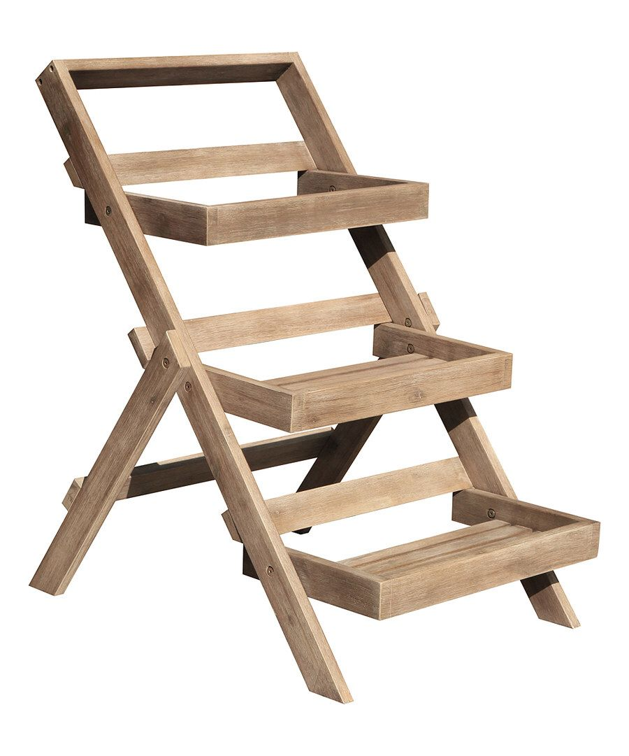 db7634bdfc15 Look at this Hand-Scraped Renaissance Three-Tier Planter Stand on #zulily  today!