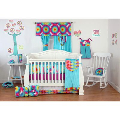 Baby Bedding Sets Girl Nursery, Tie Dye Nursery Bedding