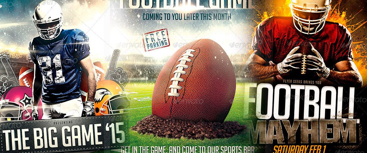 Top 30 American Football Flyer Templates -    wwwawesomeflyer - football flyer template