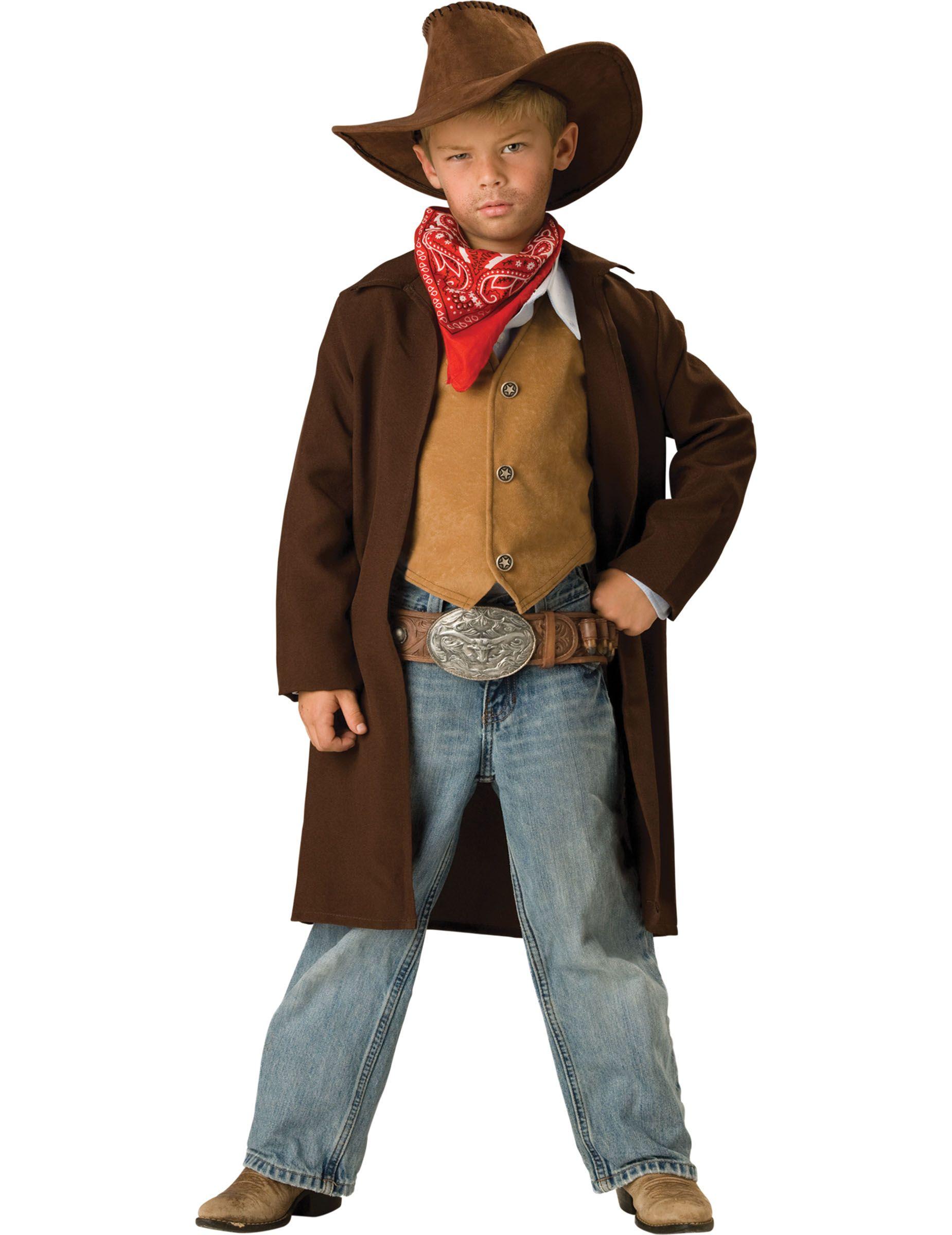Disfraz Vaquero para niño -Premium  Este disfraz de cowboy para niño  incluye chaqueta de color marrón ac691396349