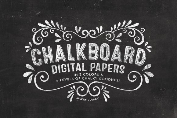 Chalkboard Digital Paper Textures | Chalkboards, Creative and Fonts