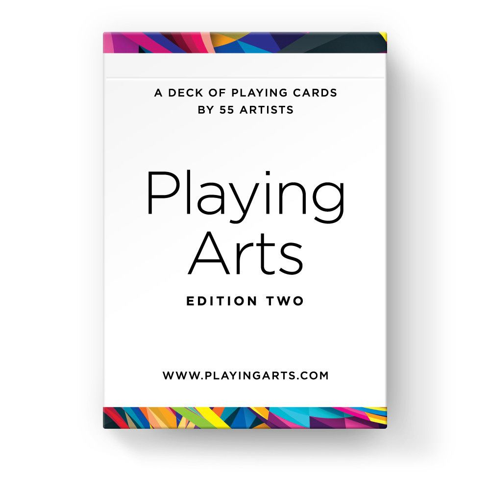 — Enjoy beautiful, colorful, original artwork from 55 different international artists, all in the palm of your hand! — The deck features 54 playing cards, along with an info card that details the names of all the designers and illustrators that contributed to this project. — Manufactured in USA by the USPCC, and is printed on Bicycle® paper, the highest quality coated playing card stock.