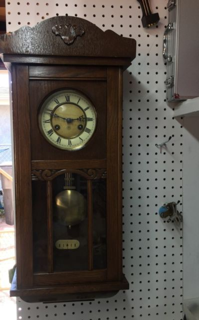 Antique Junghans Wall Clock With Pendulum Key Ebay Pendulum