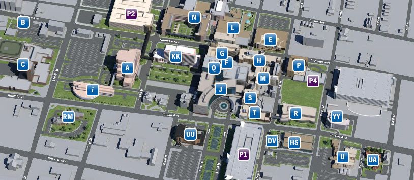 Main Campus Map Cleveland Clinic in Cleveland Ohio Center for