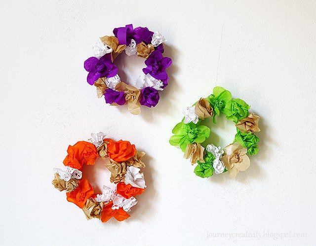 Easy Tissue Paper Wreaths Craft Gossip Tissue Paper Wreaths