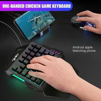 35 Chaves Gaming Mecanico Teclado Backlit Portatil Mini Teclado Gaming Fresco Jogo De Luz Rgb Controlador Para Pc Xbox Gamer Mouse Para Pc Teclado Controladora