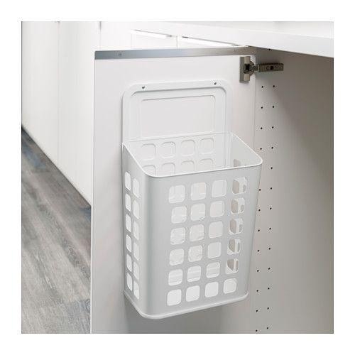 Variera Trash Can White 3 Gallon Kitchen Closet Storage