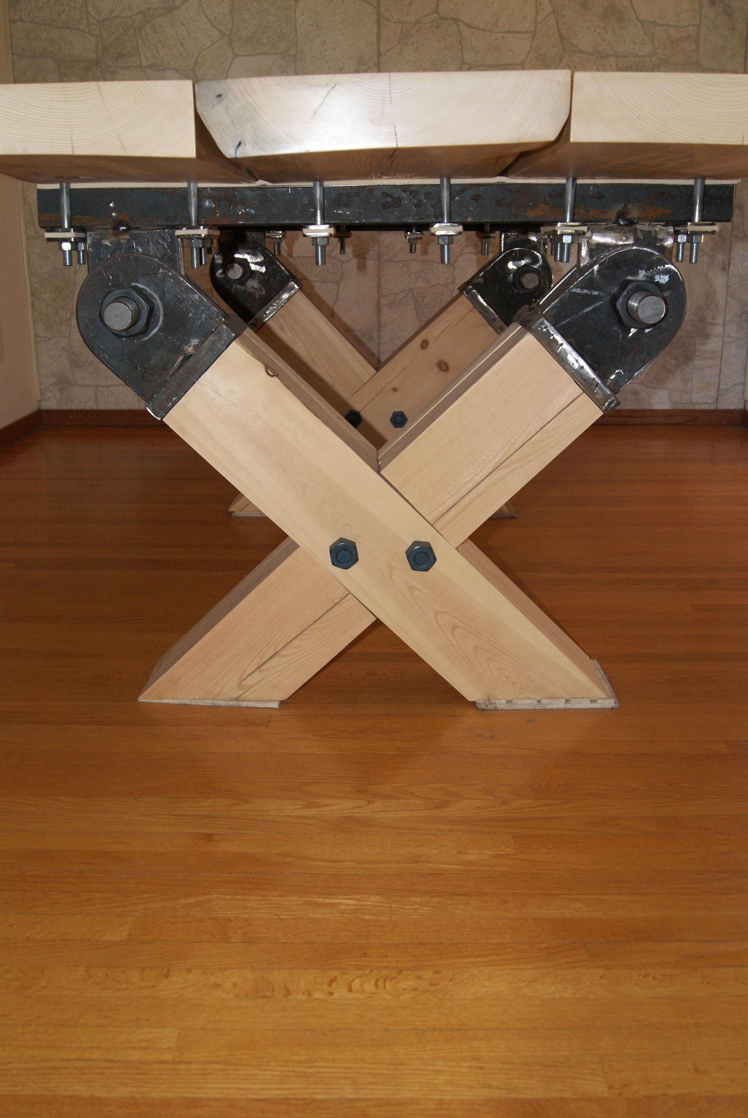 Slab wood table, natural edge (seats 10) www.imagineiron.com