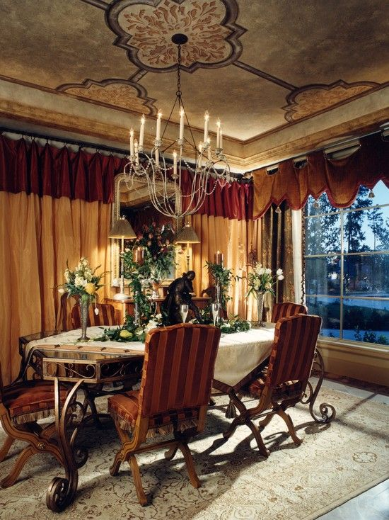 Mediterranean Dining Room Design Pictures Remodel Decor And Ideas Page 11 Old World Decorating Decor World