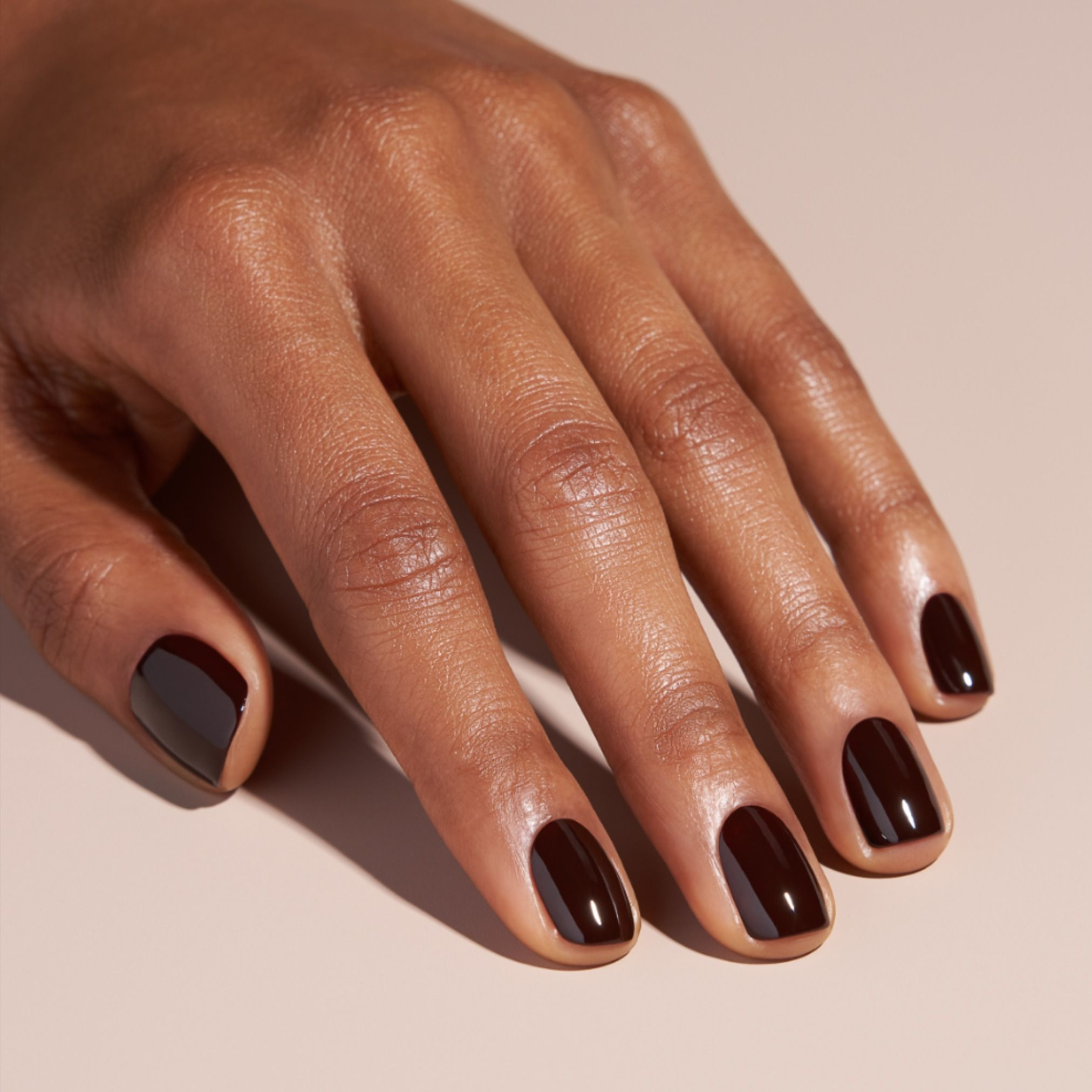 Cnd Black Cherry Nail Polish A Deep Rich Brown With A Tint Of Red Wine Nails Minimalist Nails Stylish Nails