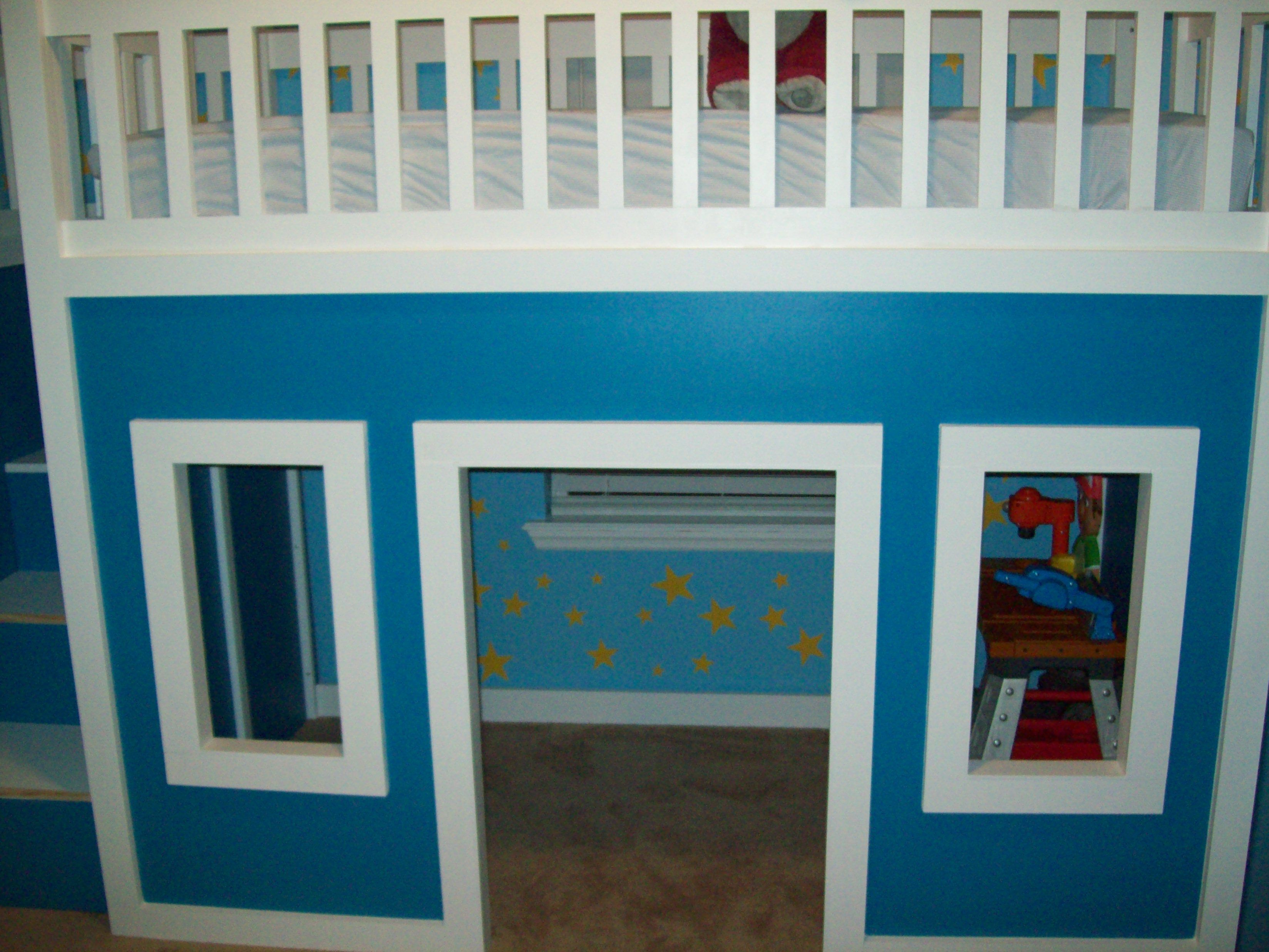 Loft bed with slide screws  ana white loft bed  Playhouse Loft Bed With Stairs And Slide