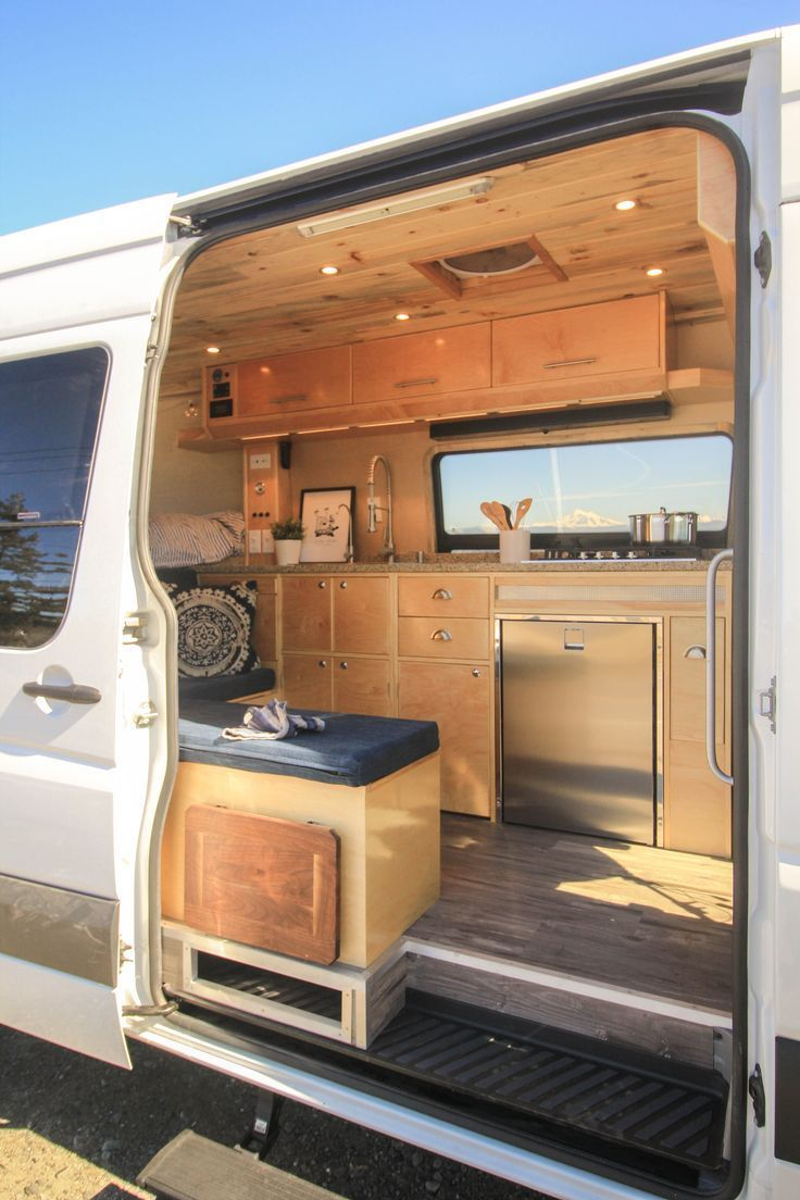 Check out more photos of this build on the project gallery of our website! #van #vanlife #travel #explore #vacation #sprinter #sprintervan #conversion #vanconversion #convertedvan #sprinterconversion #convertedsprinter #kitchen #kitchenette #ideas #freedomvans