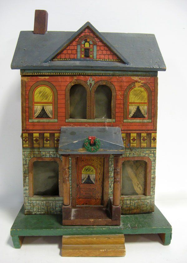 Bliss doll house paper on wood 1880's.