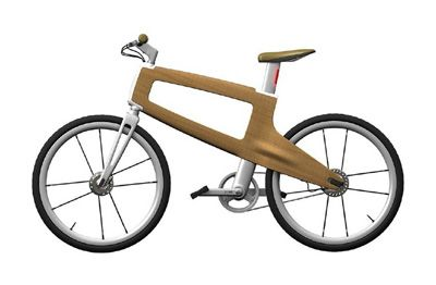 jano holzbike a dual bike with wooden frame very nice design for casual cycling