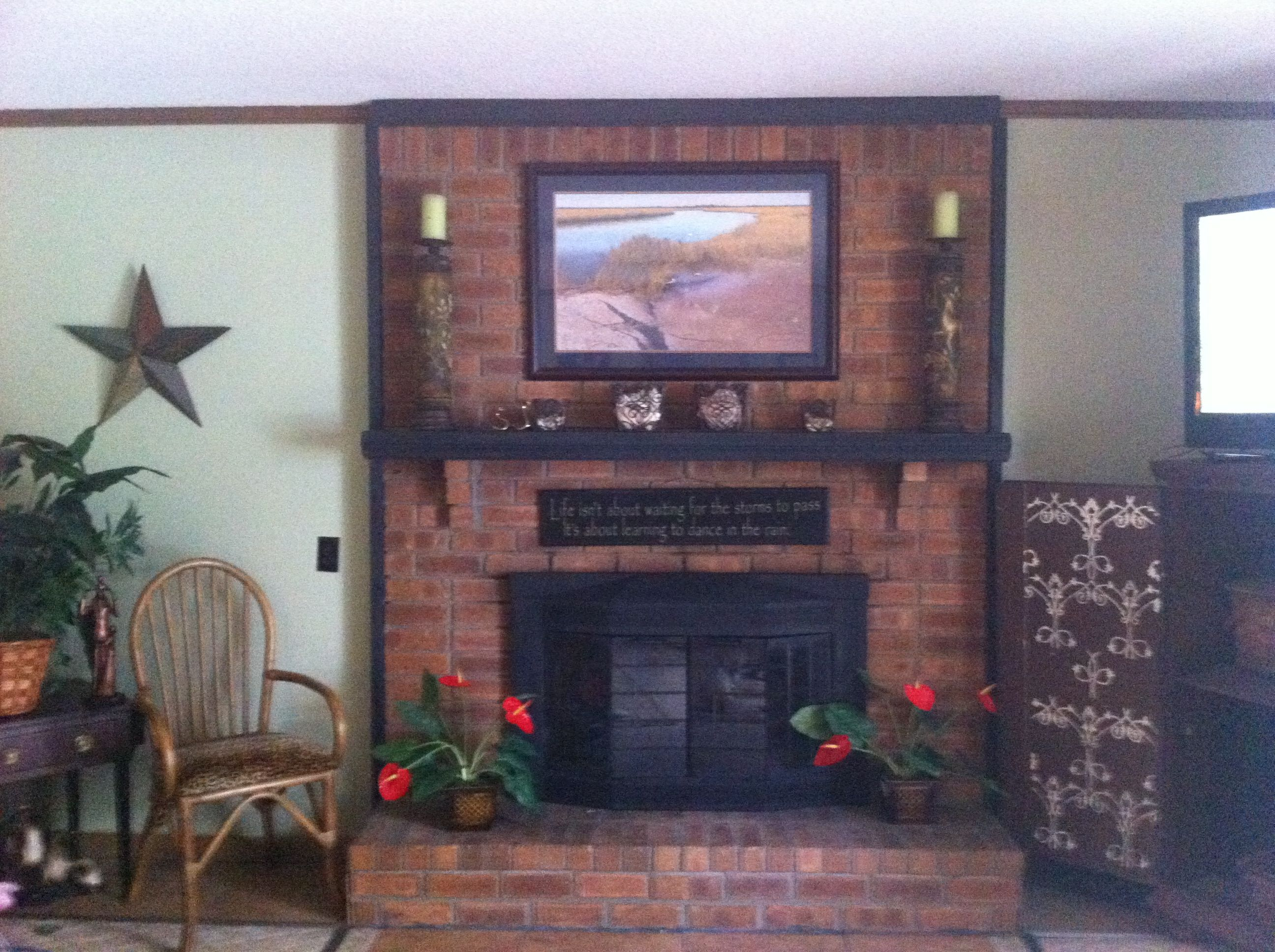 full picture of my refurbished fireplace insert see how easy