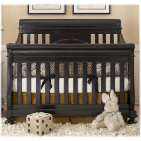 Summer's Evening Convertible Sleigh Crib w/ Toddler Rail