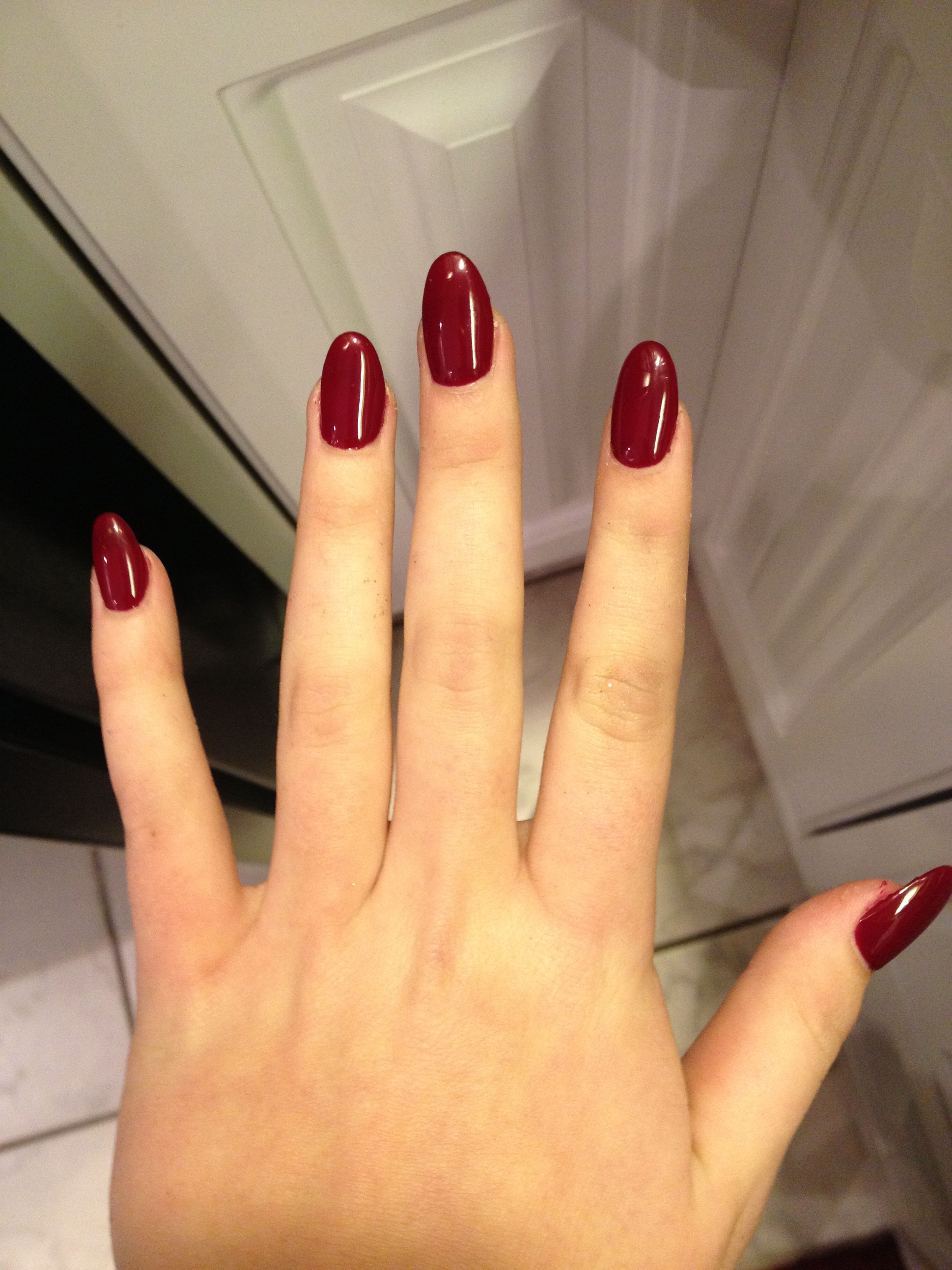 Blood red almond shaped nails... Love them! | Nails | Pinterest ...