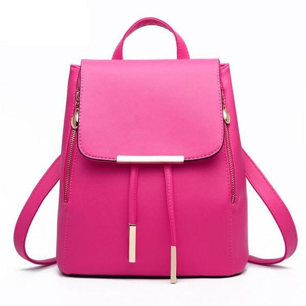 Sugar pink women backpack every day bag drawstring backpack women travel backpack pink backpacks fashion backpack Women backpack