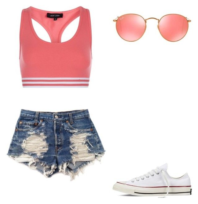 """""""😍"""" by melodyleighmitchell on Polyvore featuring New Look, Levi's, Converse and Ray-Ban"""