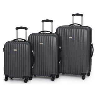 Buy Go Explore Large 4 Wheel Suitcase - Charcoal at Argos.co.uk ...