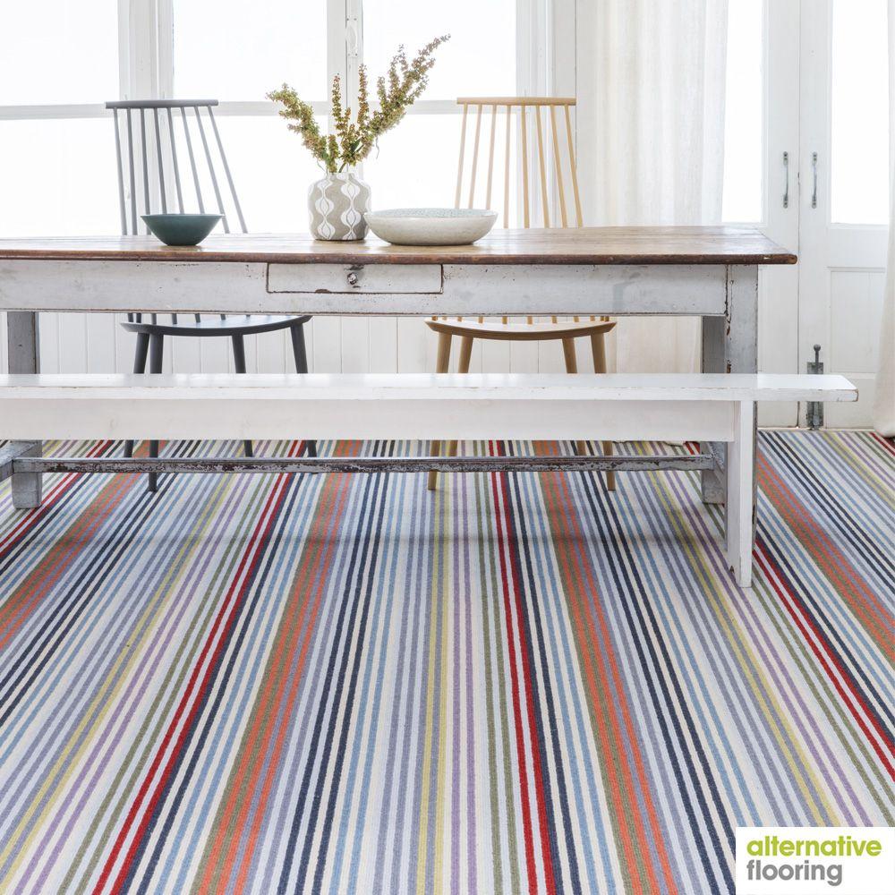 Stripe Frolic Westbrook Carpet, designed by Margo Selby