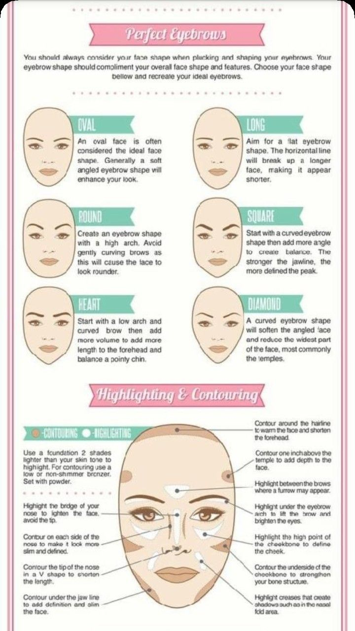 Makeup tips | Eyebrow shape, Face shapes, Oval faces