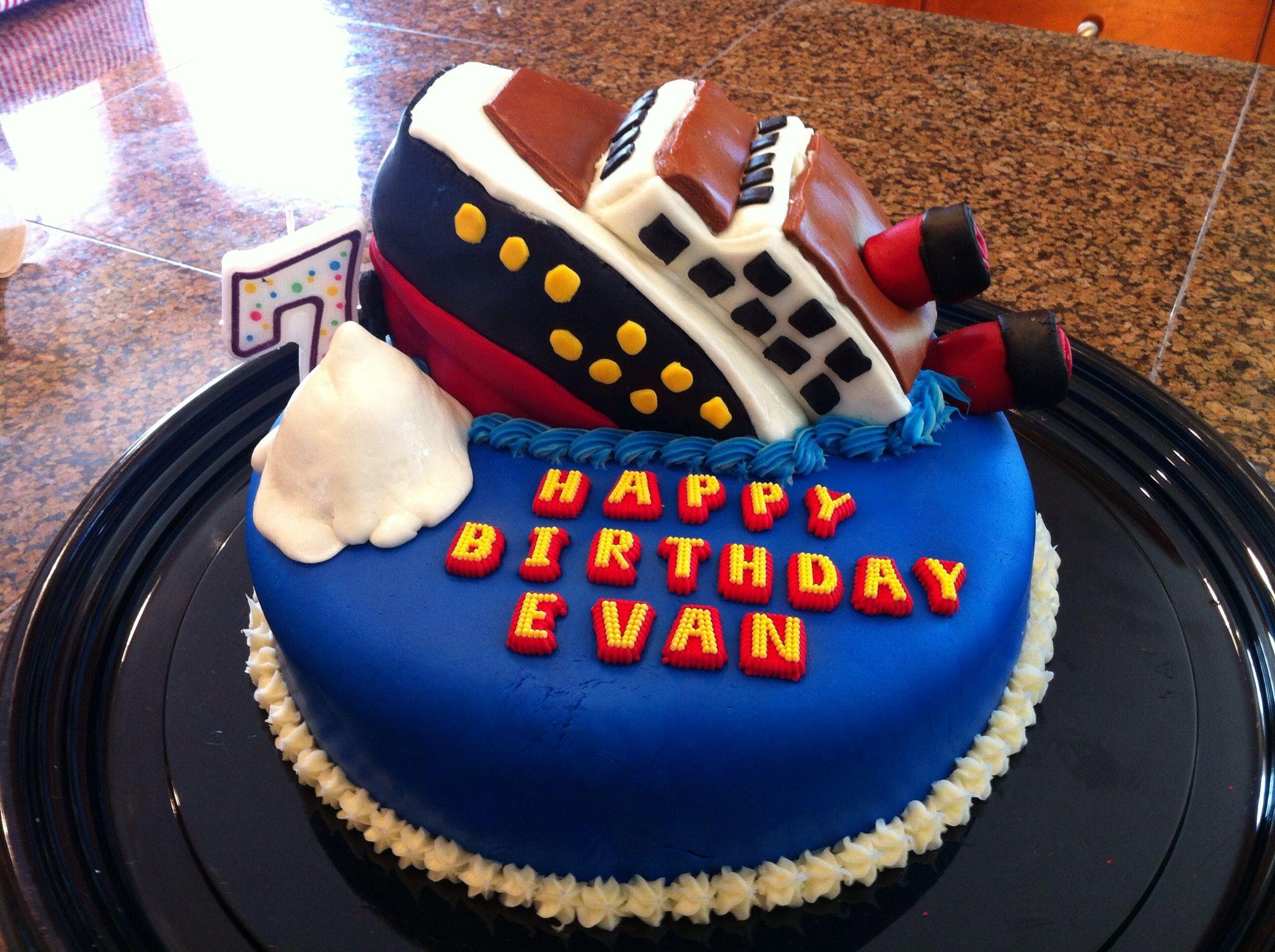 Titanic Cake Rms 8th Birthday Cakes Frozen